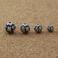 925 Sterling Silber Perlen, 925er Sterling Silber, rund, antik silberfarben plattiert, DIY & verschiedene Größen vorhanden, Bohrung:ca. 1-4mm, verkauft von PC