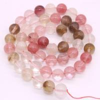 Wassermelone Perle, verschiedene Größen vorhanden, Rosa, 390mm, 5SträngeStrang/Menge, verkauft von Menge