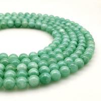 Jadeit Perlen, verschiedene Größen vorhanden, grün, 390mm, 5StrangStrang/Menge, verkauft von Menge