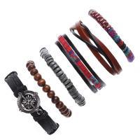 Lederband Armband, Leder, mit Zinklegierung, plattiert, für den Menschen, 60x170x180mm, verkauft per ca. 23.62 ZollInch Strang
