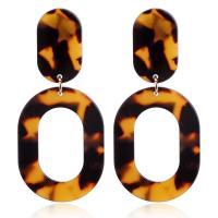 Acryl Schmuck Ohrring, Acetat-Blatt, plattiert, für Frau, 29*39mm,15*5mm,70mm, verkauft von Paar