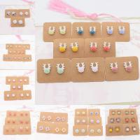 Porzellan-Ohrringe, Porzellan, handgemacht, unisex & verschiedene Stile für Wahl, keine, verkauft von Paar