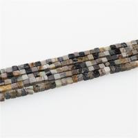 Picasso Jaspis Perle, Quadrat, poliert, DIY, gemischte Farben, 4x4mm, Länge:ca. 15.35 ZollInch, ca. 5SträngeStrang/Menge, verkauft von Menge