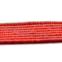 Natürliche Korallen Perlen, Koralle, poliert, DIY, korallenfarbig, 2x4mm, Länge:ca. 15.35 ZollInch, 5SträngeStrang/Menge, verkauft von Menge