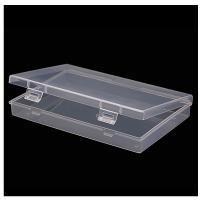 Schmuck Nagelkasten, Polypropylen, Rechteck, transparent, 177x115x26mm, verkauft von PC