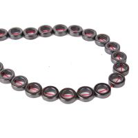 Nicht-magnetische Hämatit Perlen, Kreisring, DIY & verschiedene Größen vorhanden, schwarz, verkauft per ca. 15.4 ZollInch Strang