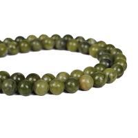 Jade Perlen, Südliche Jade, rund, DIY & verschiedene Größen vorhanden, grün, verkauft per ca. 15 ZollInch Strang