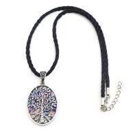 Unisex Halskette, Zinklegierung, mit Seeohr Muschel, Baum des Lebens, antik silberfarben plattiert, frei von Nickel, Blei & Kadmium, 56x32x4mm, verkauft per ca. 17.7 ZollInch Strang