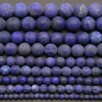 Lapislazuli Perlen, rund, DIY & verschiedenen Materialien für die Wahl, frei von Nickel, Blei & Kadmium, Länge:ca. 15 ZollInch, verkauft von PC