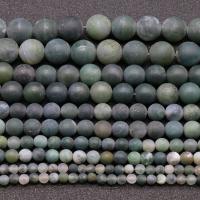 Natürliche Moos Achat Perlen, rund, poliert, DIY & verschiedene Größen vorhanden, Bohrung:ca. 0.8mm, verkauft per ca. 15.7 ZollInch Strang