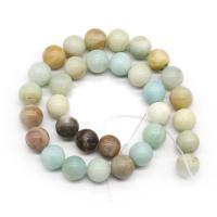 Amazonit Perlen, rund, poliert, DIY & verschiedene Größen vorhanden, verkauft per ca. 15.7 ZollInch Strang