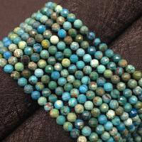 Natürliche Türkis Perle, rund, poliert, DIY, grün, 5mm, ca. 78PCs/Strang, verkauft per ca. 15.7 ZollInch Strang