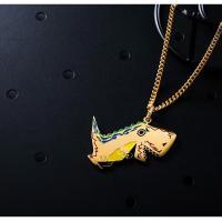 Edelstahl Schmuck Halskette, plattiert, unisex, Goldfarbe, 650x23x2mm, verkauft von Strang
