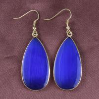 Edelstein Ohrringe, Tropfen, goldfarben plattiert, für Frau, keine, 55x22mm, verkauft von Paar