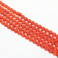 Natürliche Korallen Perlen, Koralle, rund, poliert, DIY, rote Orange, 3-6mm, Länge:ca. 15 ZollInch, 10SträngeStrang/Menge, verkauft von Menge