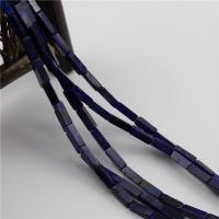Lapislazuli Perlen, Rechteck, poliert, DIY, tiefblau, 4x13mm, Länge:ca. 15.35 ZollInch, 5SträngeStrang/Menge, verkauft von Menge