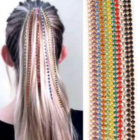 Dekoratives Haarkämmchen, Zinklegierung, plattiert, für Frau & mit Strass, keine, frei von Nickel, Blei & Kadmium, 385mm, verkauft von PC