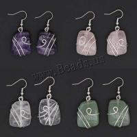Edelstein Ohrringe, mit Messing, silberfarben plattiert, für Frau, keine, 25x20mm, verkauft von Paar