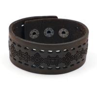 Rindsleder Armband, Kunstleder, unisex, schwarz, 3cmx25cm, verkauft von PC