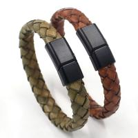 Rindsleder Armband, Kunstleder, mit Titanstahl, keine, 1cmx21cm, verkauft von PC
