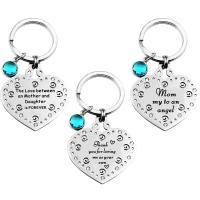 Edelstahl-Schlüssel-Verschluss, 304 Edelstahl, Herz, plattiert, unisex & verschiedene Stile für Wahl & mit Brief Muster, keine, 35x36mm, verkauft von PC