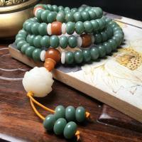 Bodhi Wurzel Armband, mit Baumwollfaden, buddhistischer Schmuck & verschiedene Stile für Wahl, keine, 6x9mm, verkauft von Strang