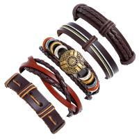 Lederband Armband, Kunstleder, Armband, plattiert, unisex, keine, frei von Nickel, Blei & Kadmium, 60mm, verkauft von setzen