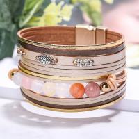PU Leder Armband, mit Zinklegierung, plattiert, für Frau, keine, 200mm, verkauft von Strang
