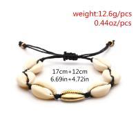 Muschel Schmuck Armband, Zinklegierung, Armband & Halskette, mit Muschel, plattiert, für Frau, keine, frei von Nickel, Blei & Kadmium, verkauft von setzen