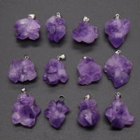 Natürliche Amethyst Perlen, DIY, violett, 22-35mm, verkauft von PC