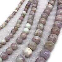Flieder Perlen Perle, rund, poliert, DIY & verschiedene Größen vorhanden, violett, verkauft von Strang