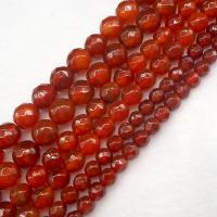 Natürlich rote Achat Perlen, Roter Achat, rund, poliert, DIY & verschiedene Größen vorhanden, rot, verkauft per ca. 14.6 ZollInch Strang
