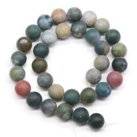 Natürliche Indian Achat Perlen, Indischer Achat, rund, DIY & verschiedene Größen vorhanden & satiniert, verkauft von Strang