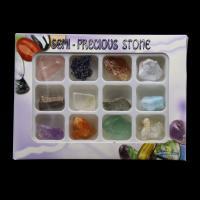 Naturstein mit Achat & Natürlicher Quarz, DIY, gemischte Farben, 142x105mm, 12PCs/Box, verkauft von Box