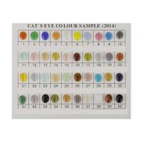 Cats Eye Perlen Schmuck, Katzenauge, Ellipse, plattiert, verschiedene Größen vorhanden, keine, 500PCs/Menge, verkauft von Menge