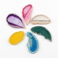 KRISTALLanhänger, Natürlicher Quarz, verschiedene Größen vorhanden, keine, 53*38*5~92*39*5mm, Bohrung:ca. 1mm, 10PCs/Tasche, verkauft von Tasche