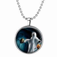 Zeit Gem Jewelry Halskette, Zinklegierung, mit Glas Edelstein & Edelstahl, Zeit Edelstein Schmuck & unisex, blau, 600mm,33mm, 3PCs/Menge, verkauft von Menge