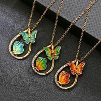 Zinklegierung Schmuck Halskette, mit Strass, für Frau & Emaille, keine, 520mm, 3PCs/Menge, verkauft von Menge
