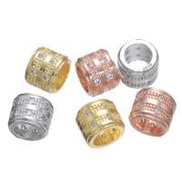 Befestigte Zirkonia Perlen, Messing, mit kubischer Zirkonia, keine, 6x7mm, verkauft von PC