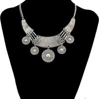 Vintage Halskette-Anweisung, Zinklegierung, plattiert, für Frau, frei von Nickel, Blei & Kadmium, verkauft per 14.80 ZollInch Strang