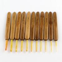 Eisen Häkeln, mit Bambus & Aluminium, plattiert, DIY & verschiedene Größen vorhanden, gemischte Farben, 136x165x7mm, verkauft von setzen