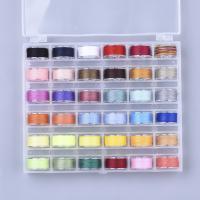 Polyester Näh-Set, Nähgarn, DIY, gemischte Farben, 145x120x25mm, 36Spulen/Box, ca. 50m/Spule, verkauft von Box