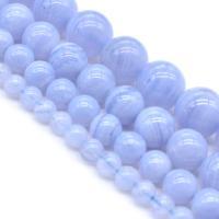 Natürliche Drachen Venen Achat Perlen, Naturstein, poliert, DIY & verschiedene Größen vorhanden, violett, verkauft von Strang