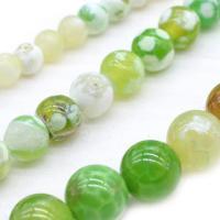 Natürliche Crackle Achat Perlen, poliert, DIY & verschiedene Größen vorhanden, grün, verkauft von Strang