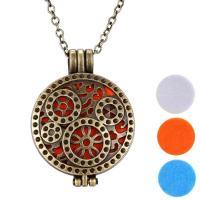 Parfüm Medaillon Halskette, Zinklegierung, unisex, Goldfarbe, 3PCs/Menge, verkauft von Menge