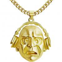 Männer Halskette, Zinklegierung, plattiert, für den Menschen, keine, frei von Nickel, Blei & Kadmium, 450x400mm, verkauft von PC