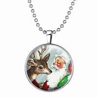 Zeit Gem Jewelry Halskette, Zinklegierung, glänzend, grau, 33mm, verkauft von PC