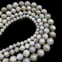 Mondstein Perlen, unisex & verschiedene Größen vorhanden, grau, 400mm, verkauft von Strang