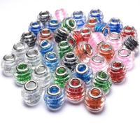 Lampwork Perlen European Stil, handgemacht, DIY & großes Loch, keine, 15x11mm, Bohrung:ca. 5mm, verkauft von PC