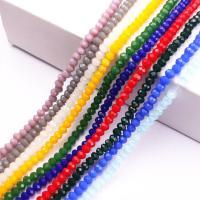 Rondell Kristallperlen, Kristall, DIY & verschiedene Größen vorhanden & Maschine facettiert, gemischte Farben, 10SträngeStrang/Tasche, verkauft von Tasche
